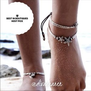 Sexy Double Starfish Ankle Bracelet